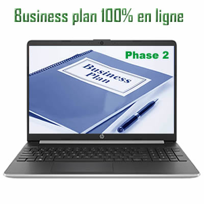 business plan 100% en ligne phase 2