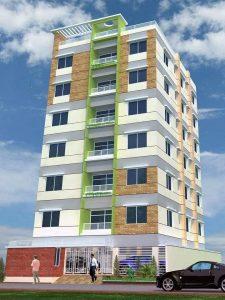 Plan de façade bâtiment